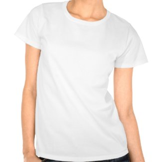 Spring flowers artwork on a white t-shirt