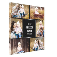 Square Collage Custom Photo Wrapped Canvas Canvas Print