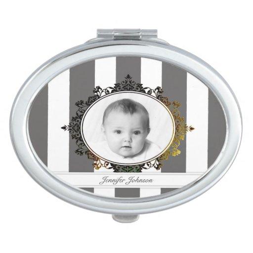 Family Photo Compact Mirror
