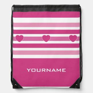 Stripes Pattern custom monogram backpack