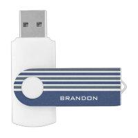 Stripes Pattern custom monogram USB drives Swivel USB 3.0 Flash Drive