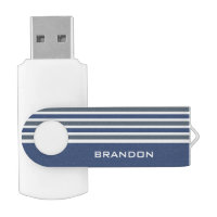 Stripes Pattern custom monogram USB drives Swivel USB 3.0 Flash Drive