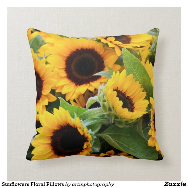 Sunflowers Floral Pillows