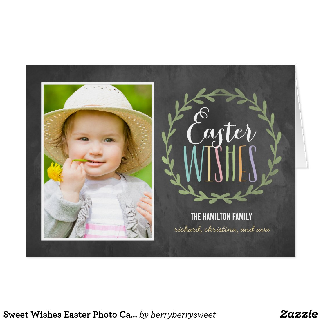 Sweet Wishes Easter Photo Card