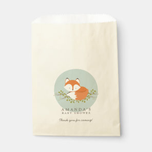 Sweet Woodland Fox Nature Baby Shower Favour Bag