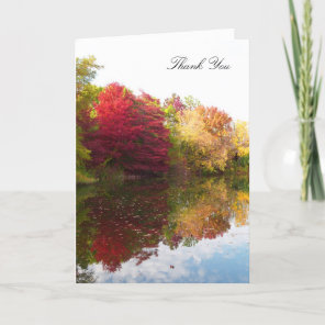 Sympathy Funeral Thank You Card -- Autumn