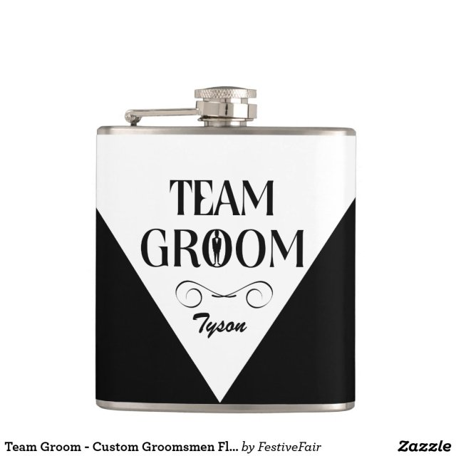 Team Groom - Custom Groomsmen Flask