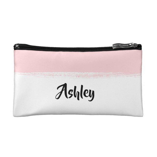 Tender pink cosmetic bag