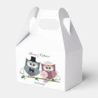 Wedding Owls Favour Box