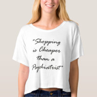Than a psychiatrist crop top