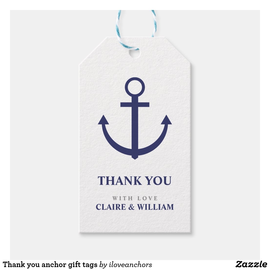 Thank you anchor gift tags