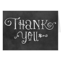 Thank You Note Cards | Black Chalkboard Charm