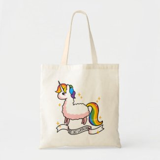 The Last Llamacorn Tote Bag