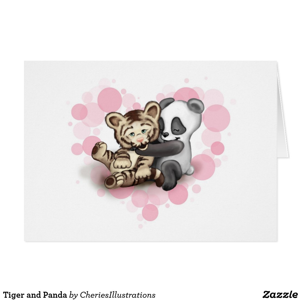 Tiger and Panda Card