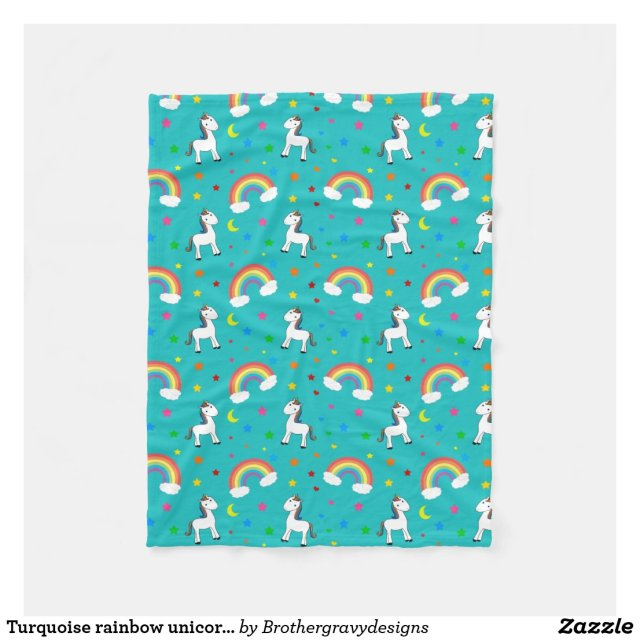 Rainbow Unicorn Pattern Blanket