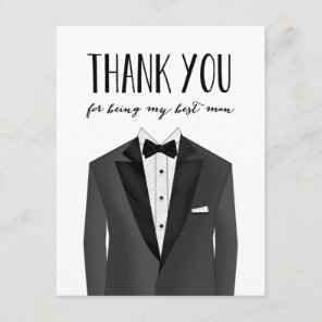 Tuxedo Thank You Best Man   Groomsman