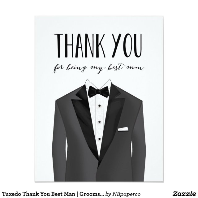 Thank You Best Man Card