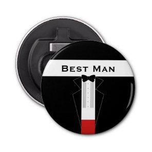 Tuxedo Wedding Favour Best Man Bottle Opener