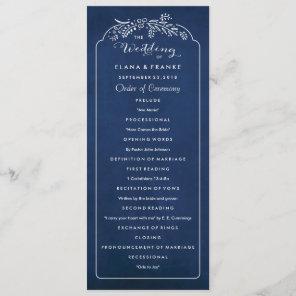 Twilight Garden Royal Blue Wedding Program Programme