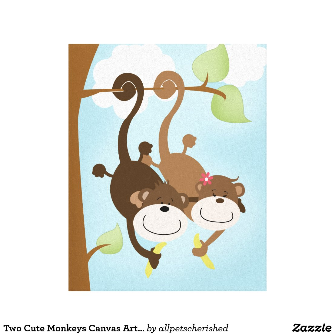 Cute Monkeys Canvas Print