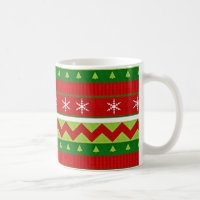 Ugly Christmas Sweater Pattern Mug