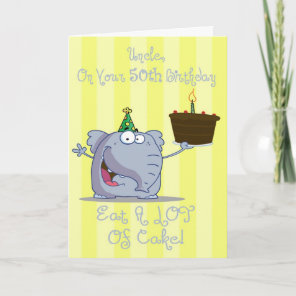 Uncle Eat More Cake 50th Birthday Card