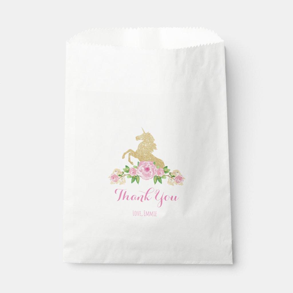 Unicorn Favour Bag