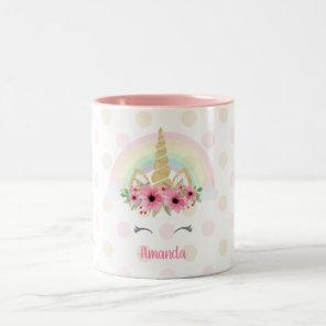 Unicorn Mug, Glitter Unicorn Mug