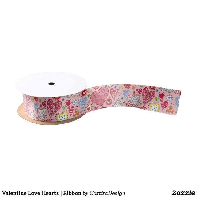 Valentine Love Hearts Ribbon