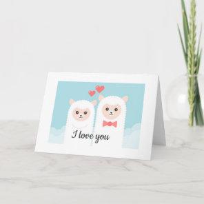 Valentine's Alpaca Card