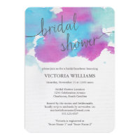 Vibrant Dreams Bridal Shower Invitation