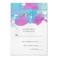 Vibrant Dreams Wedding RSVP Card