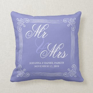 Vintage Border Elegant Blue | Mr & Mrs Wedding