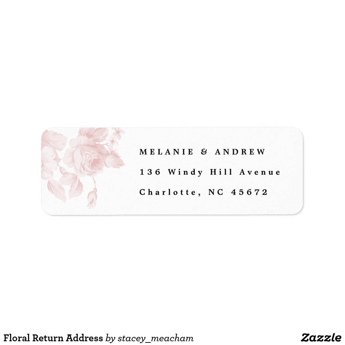 Vintage floral return address label