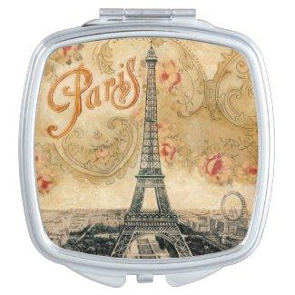 Vintage Paris Compact Mirror