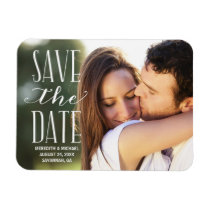 Vintage Whimsy | Photo Save the Date Rectangular Photo Magnet