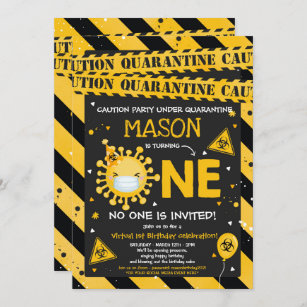 quarantine invitations zazzle uk