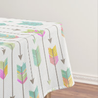 Watercolor Arrows Pattern Tablecloth