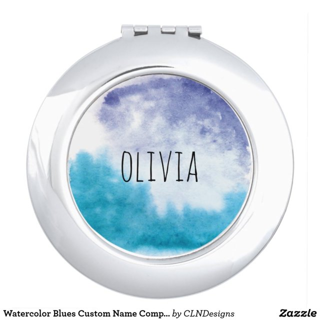 Watercolor Compact Mirror