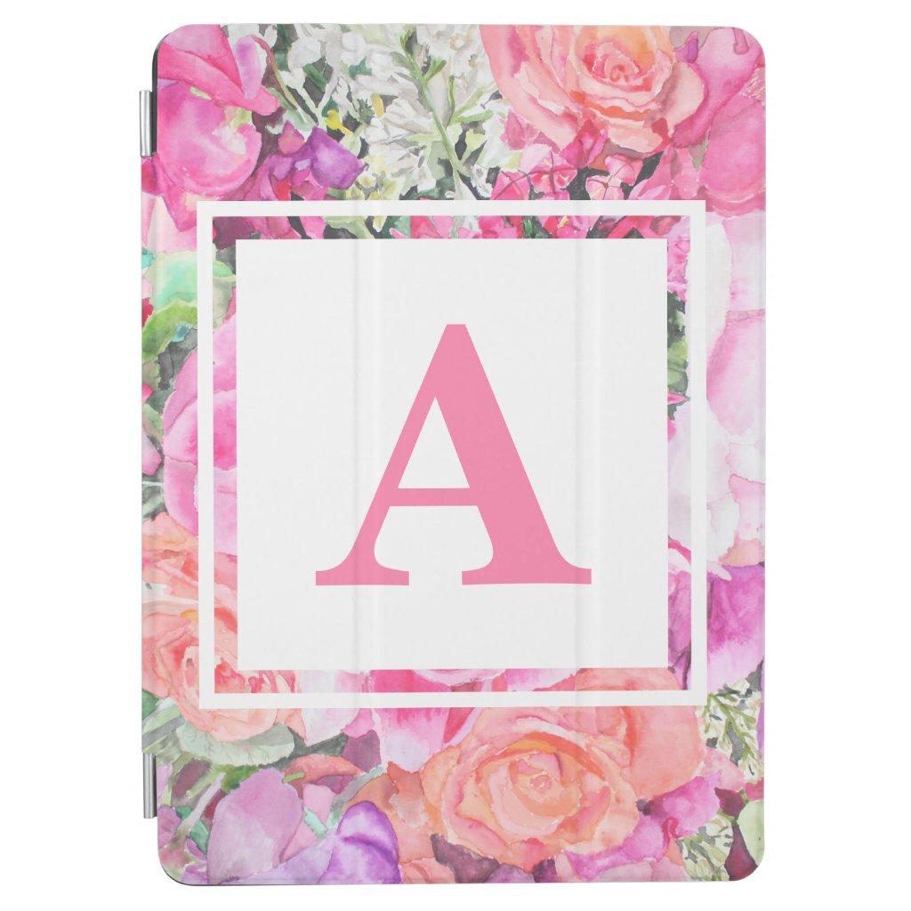 Watercolor Floral Monogram iPad Case