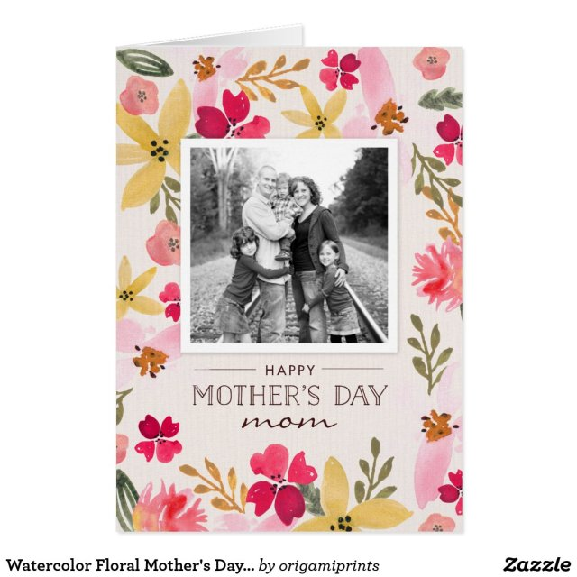 Watercolor Floral Mother's Day Card