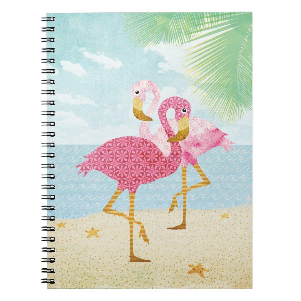 Watercolor Flamingos Notebook