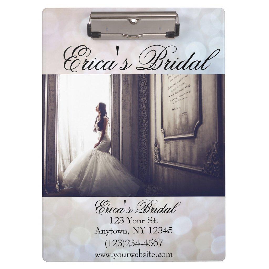 Wedding Bridal Shop Dress Boutique Clipboard