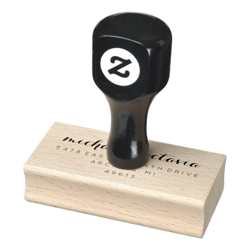Wedding Chic Return Address Rubber Stamp