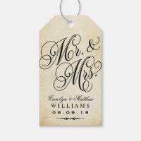 Wedding Favor Tag | Vintage Monogram Gift Tags