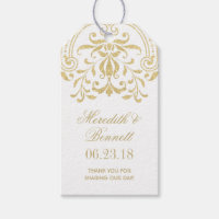 Wedding Favor Tags | Gold Vintage Glamour Gift Tags