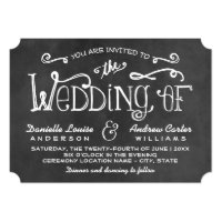 Wedding Invitation | Black Chalkboard Charm