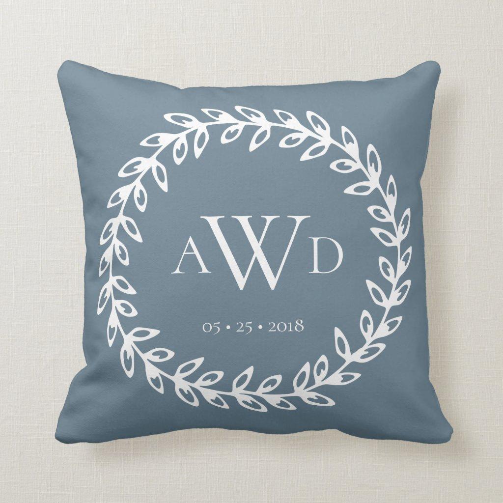 Wedding Monogram⎢ Personalised Throw Pillow