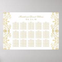 Wedding Seating Chart Poster | Vintage Glam Design