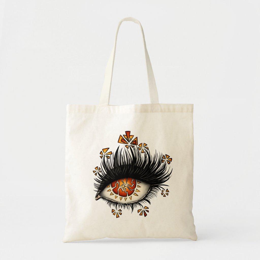 Weird Eye Of Lava Digital Art Tote Bag